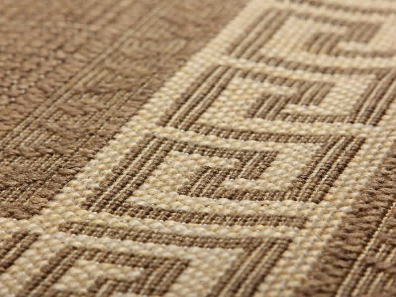 Greek Key Flatweave Natural