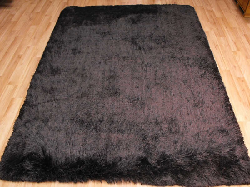 Plush Dark Chocolate Shaggy Rug