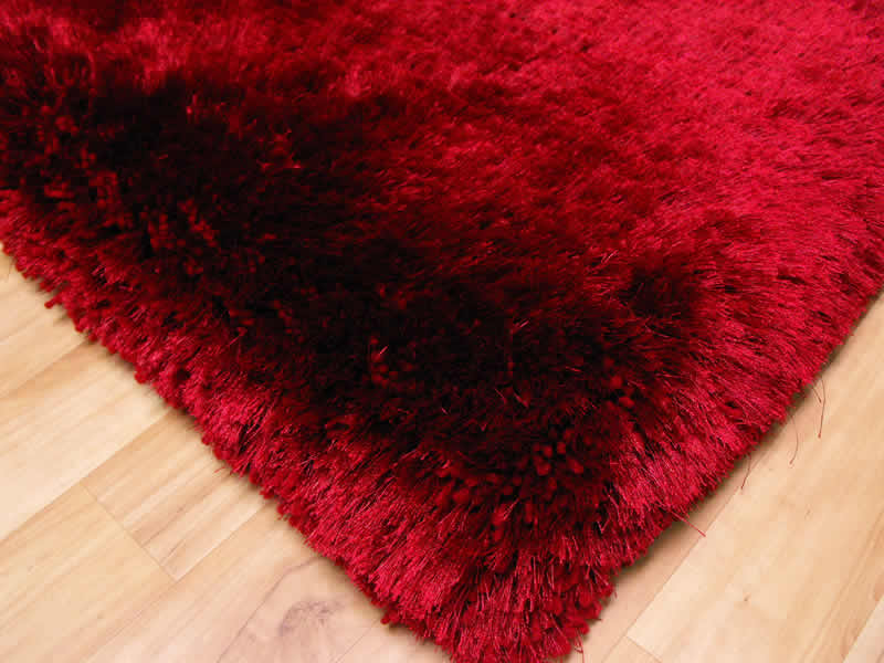 Plush Red Shaggy Rug Plush Red Shaggy Rug