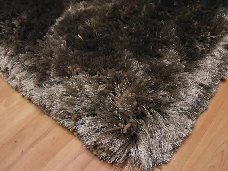 plush taupe shaggy rug