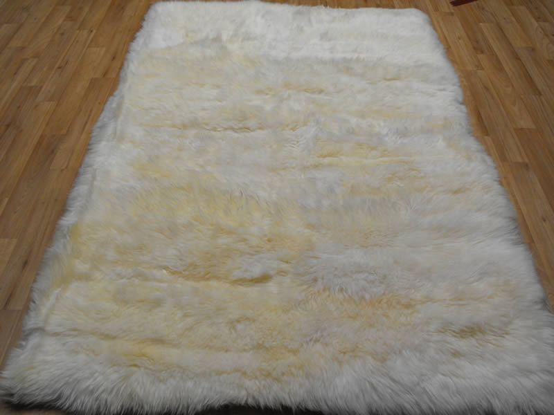 Sheepskin Rug White Rectangle