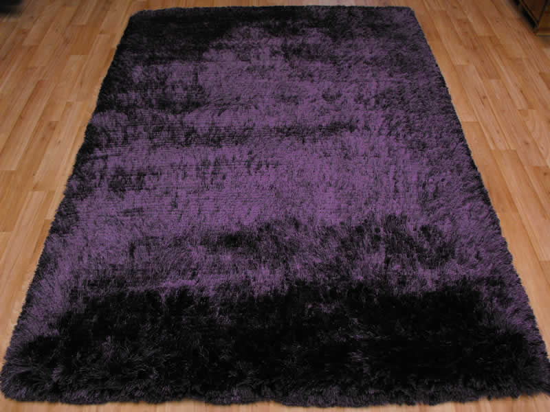 Plush Purple Shaggy Rug Plush Purple Shaggy Rug 163 117