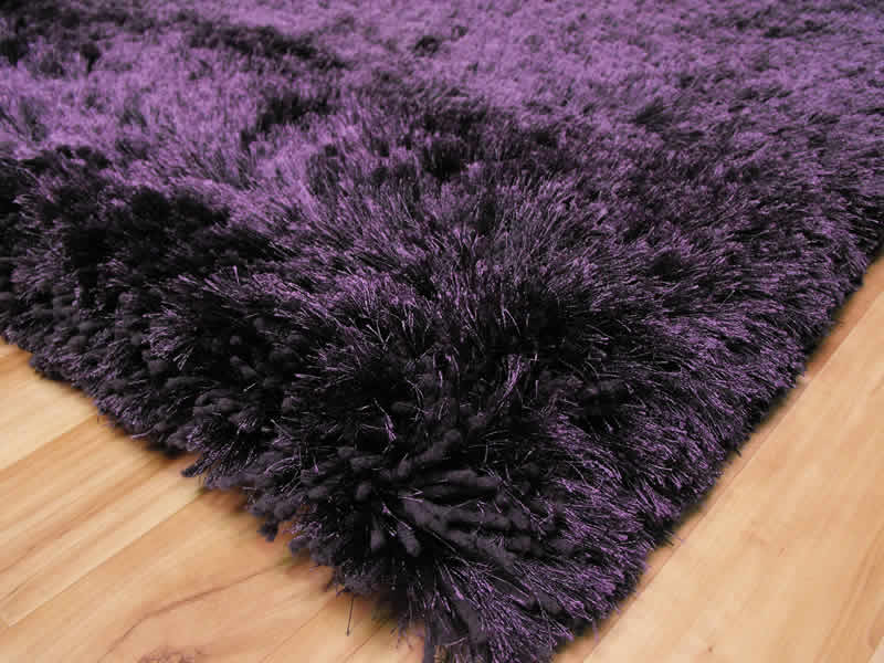 Plush Purple Shaggy Rug