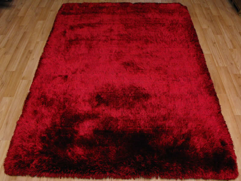 Plush Red Shaggy Rug